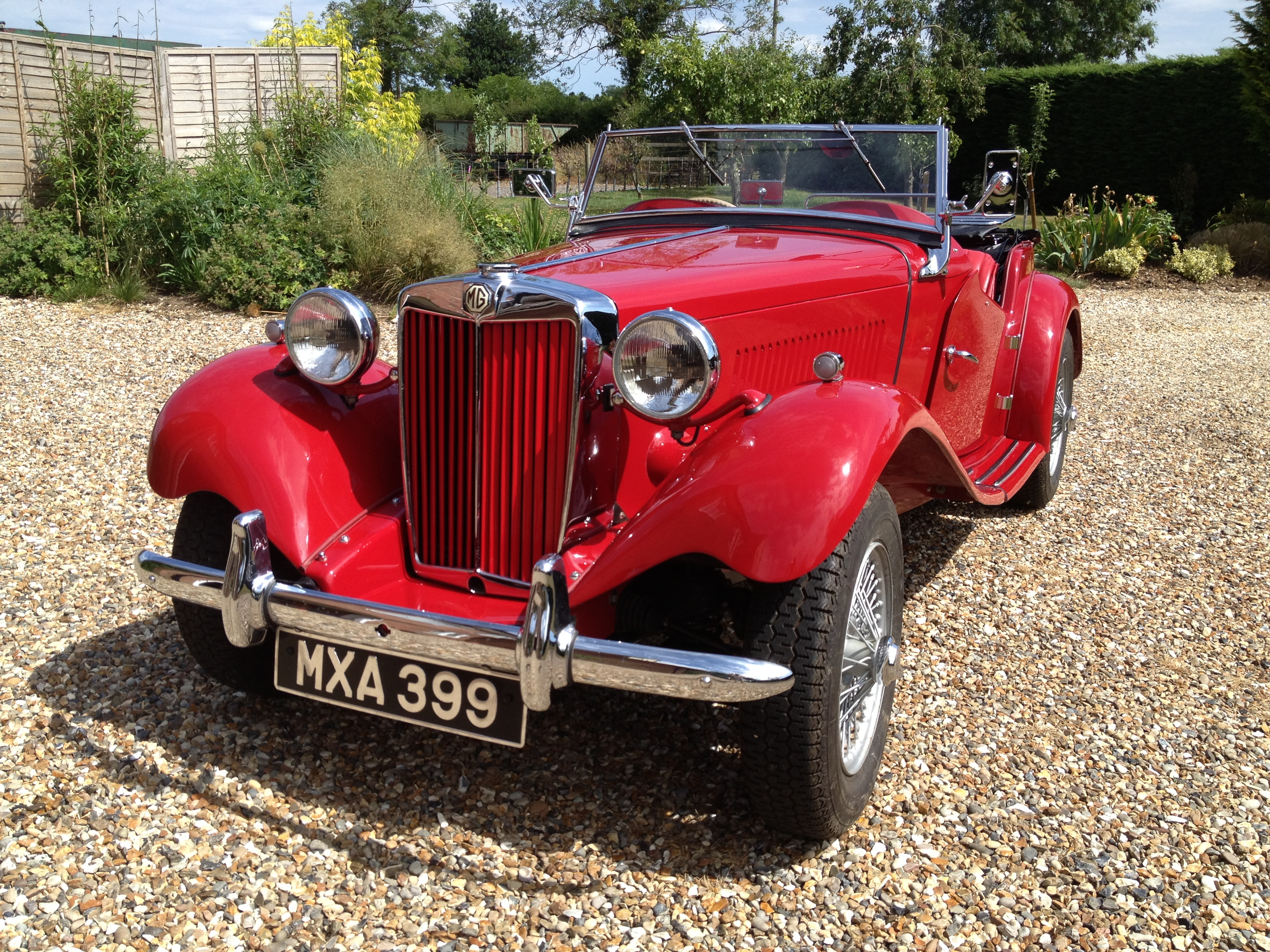 The MG TD after rebuilding by Len Bull